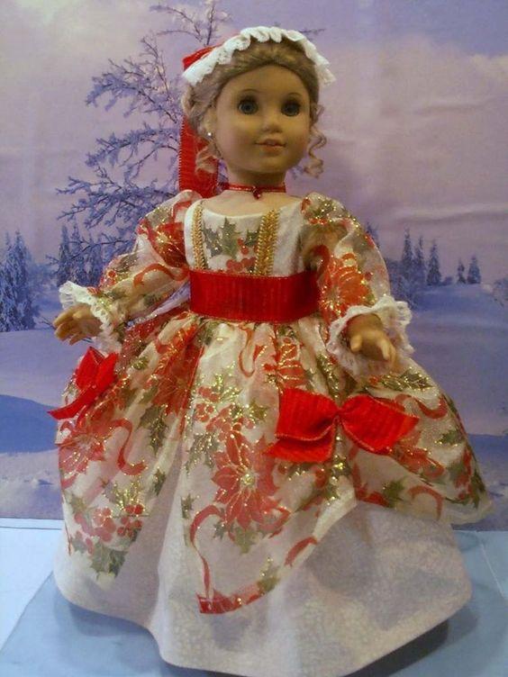 Williamsburg christmas sparkle fits american girl elizabeth felicity