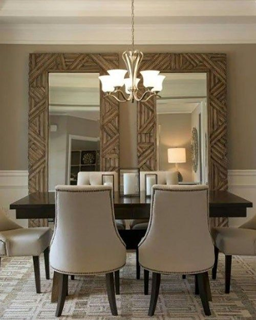 Not Just As An Ornamental Aspect Of Room That Has A Visual Component The Mirror Must Also Ta Mirror Dining Room Dining Room Wall Decor Dining Room Mirror Wall