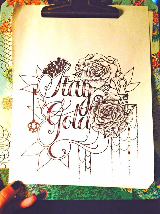 stay gold | tattoo design | @honey bee