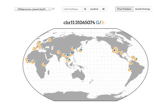A genetic variants browser is now available showing geography of genetic…