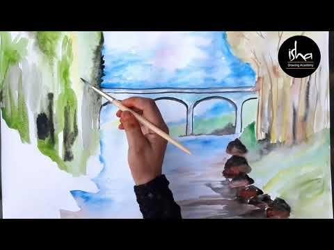 How Waterfall Beautiful Watercolour Painting Dam Painting Beautiful Landscape Painting You Beautiful Landscape Paintings Landscape Paintings Painting