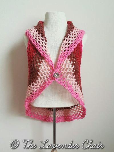pocket full posies vest crochet pattern