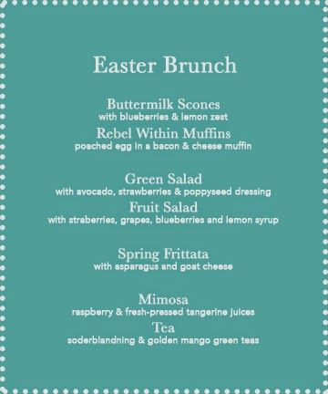 GOLDEN DREAMLAND: Easter Brunch Menu & recipes