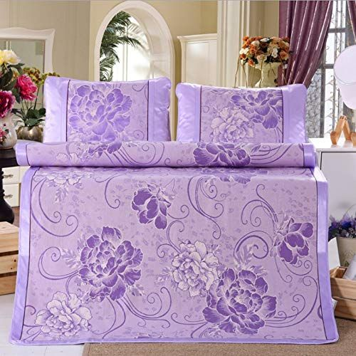 Krwhts Ice Silk Cooling Summer Sleeping Mat Folding Purple Fitted