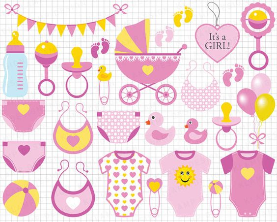 Baby Girl Clipart: