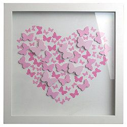 Pink 3D Butterfly Box Frame Wanted this for my room ages ago quite like the neat idea and I love butterflies in my room
