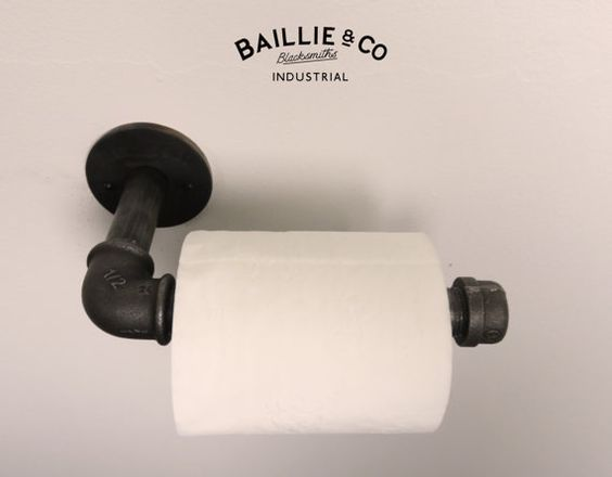Industrial toilet roll holder by BaillieandCo on Etsy