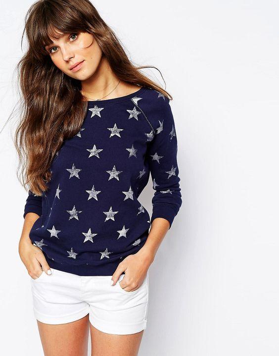 Image 1 ofHilfiger Denim Star Sweatshirt