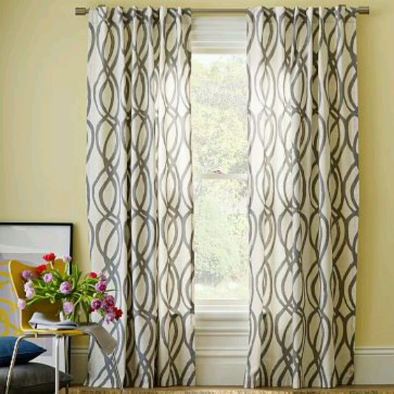 what color curtains go with yellow walls and black furniture