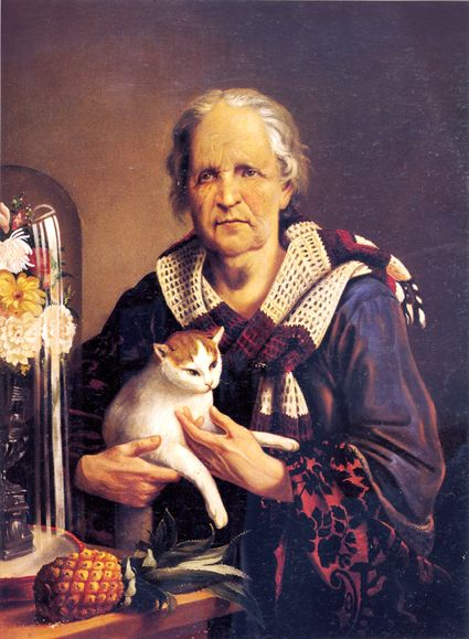 José Agustín Arrieta (Mexican painter, 1803-1874) #Cat lovers - Join http://facebook.com/OzziCat * Get cat #magazine http://OzziCat.com.au