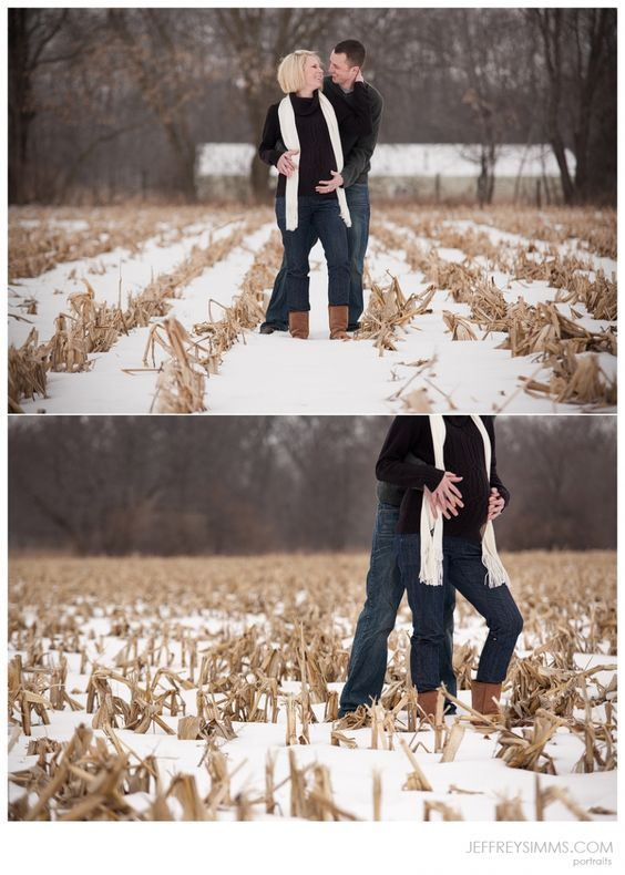 winter maternity corn field...we have plenty of those around here:)