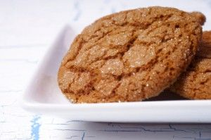 Molasses cookies - made with applesauce and coconut oil so there's less fat!