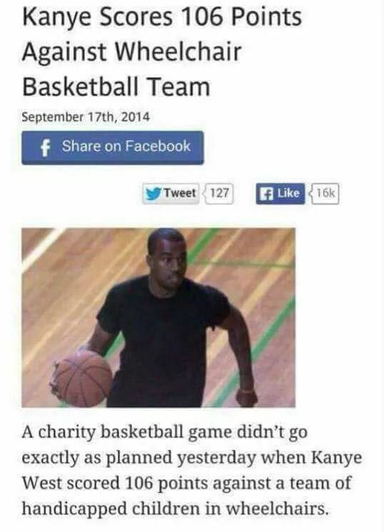 Well Done Kanye Show Them How To Play Wait Funny Memes Funny Sports Memes Funny Pictures