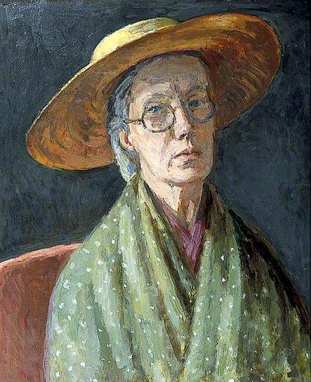 Vanessa Bell (1879-1961, English). Self Portrait, c.1958. Oil on canvas. Charleston House, Sussex, UK.