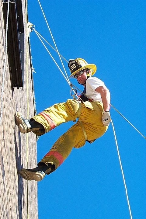 A firefighting student scales the side of the Fire Simulation Lab at Seminole State College of Florida. http://www.seminolestate.edu/?utm_source=Pinterest_medium=Link_campaign=Virtual%2BTour