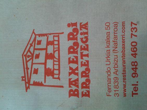 Baxerri Restaurante Bar en Arbizu, Navarra