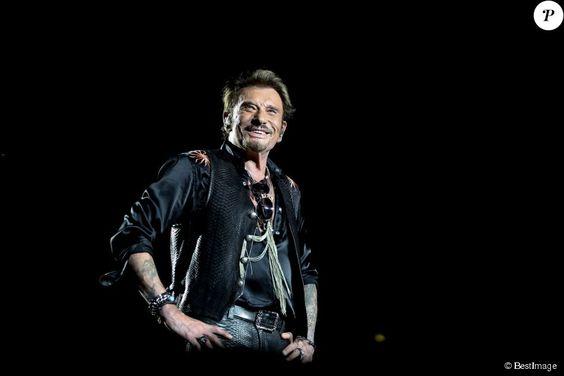 Exclusif - Johnny Hallyday sur scène lors de son premier concert, à Nîmes le 2…