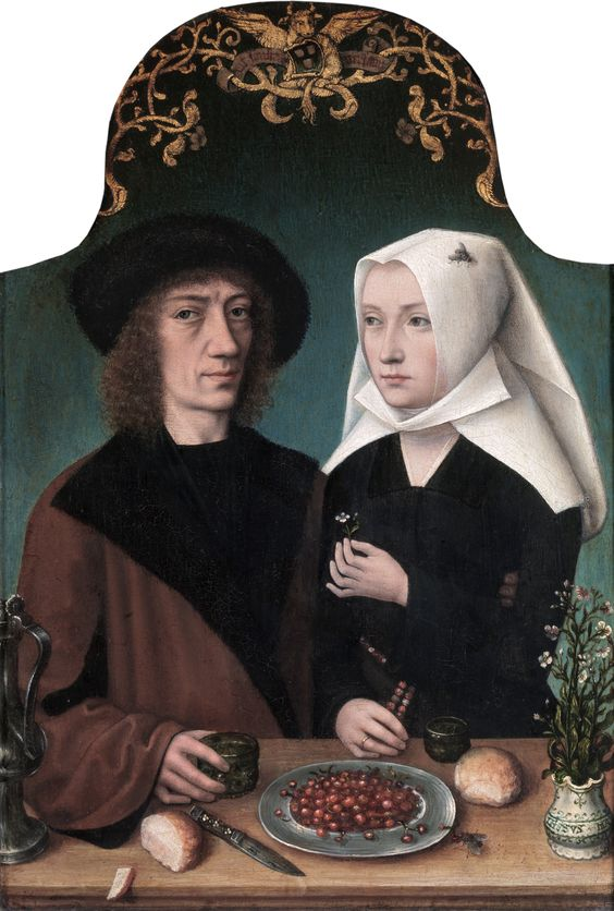 Master of Frankfurt (1460-c.1533) —     Portrait of the Artist and His Wife, 1496 :  Royal Museum of Fine Arts, Antwerp. Belgium  (3557×5273)