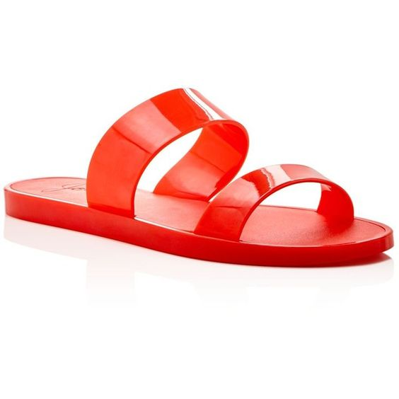 Joie Laila Jelly Slide Sandals (€72) ❤ liked on Polyvore featuring shoes, sandals, sunset, joie sandals, party sandals, joie, jelly shoes and joie shoes