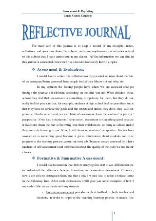 Reflective Journal Unit 1 Reflective Journal Reflective Essay Examples Reflective Journal Example