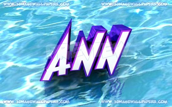 ann 3d wallpapers | Large size preview of 'Ann' - Water