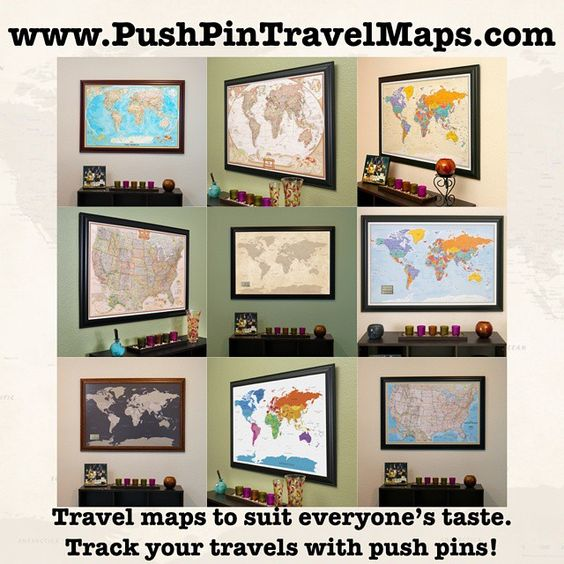Track your travels with any one of our fun and unique travel maps – Map To Track Your Travels