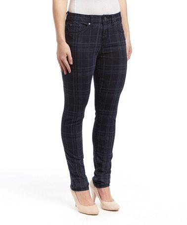 Look what I found on #zulily! Rock Plaid Skinny Minnie Jeans - Women #zulilyfinds