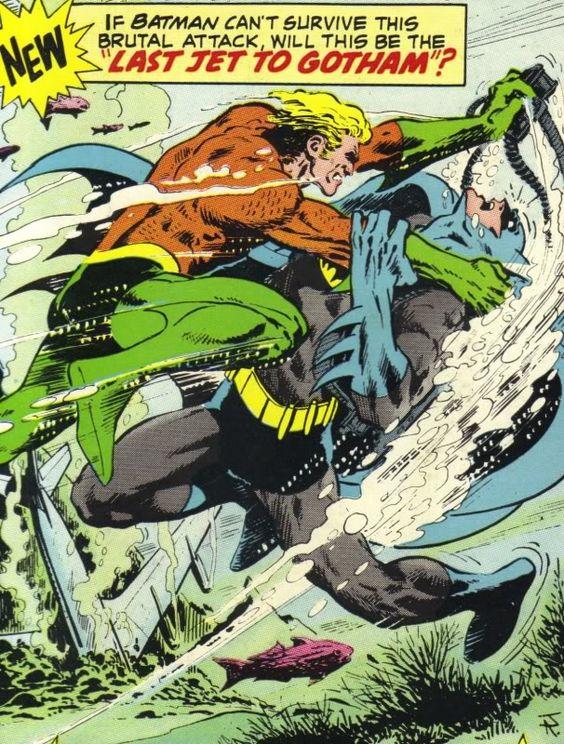 Aquaman vs Batman by Jim Aparo
