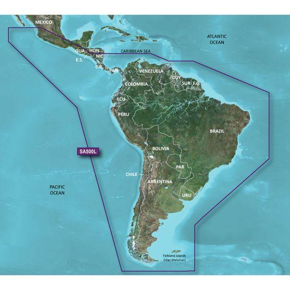 Garmin BlueChart® g2 - HXSA500L - South America - microSD™/SD™