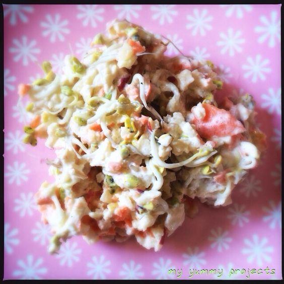 Apfelsalat mit Radieschensprossen, apple salad with radish sprouts, myyummyprojects foodblog