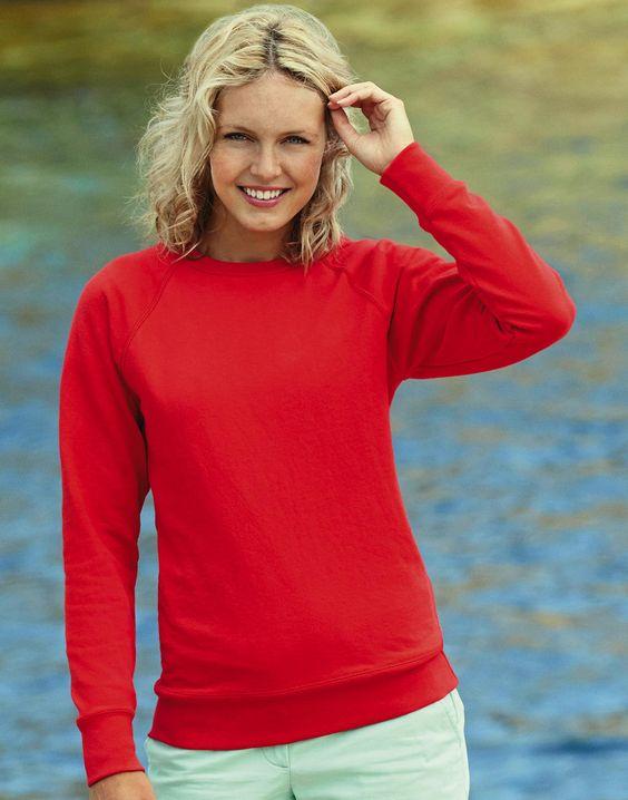 Fruit of the Loom Lady-Fit Lightweight Raglan Sweatshirt bei MPS MarkenPreisSturz.de