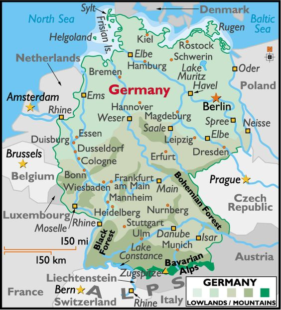 Map of Germany Showing Cities Map of Germany Deutschland – Show Me the Map of Germany