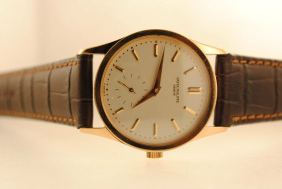 Patek Philippe Men's Calatrava Wristwatch in 18K Rose Gold with Silver Dial - $40K VALUE