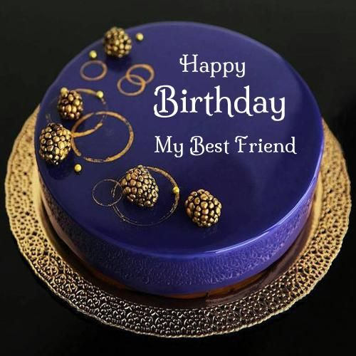 Sensational Happy Birthday Royal Blue Designer Cake With Your Name Happy Birthday Cards Printable Benkemecafe Filternl
