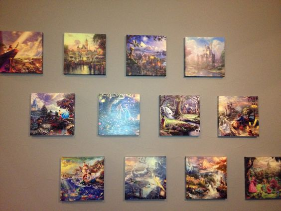 Thomas Kinkade Disney Collection.  I. Want. So. Bad.
