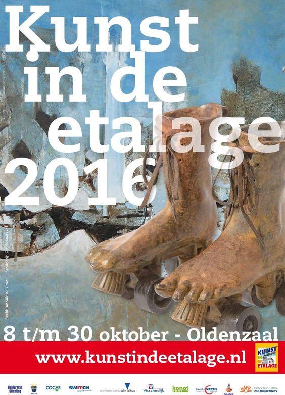 #OLDENZAAL Kunst in de Etalage van 8 t/m 30 oktober 2016 in het centrum van Oldenzaal.