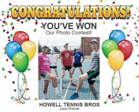 Congratulations to the Howell Tennis Bros for winning this month's photo contest!!