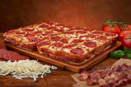 2. Little Caesar's Bacon-Wrapped Pizza - Splash News