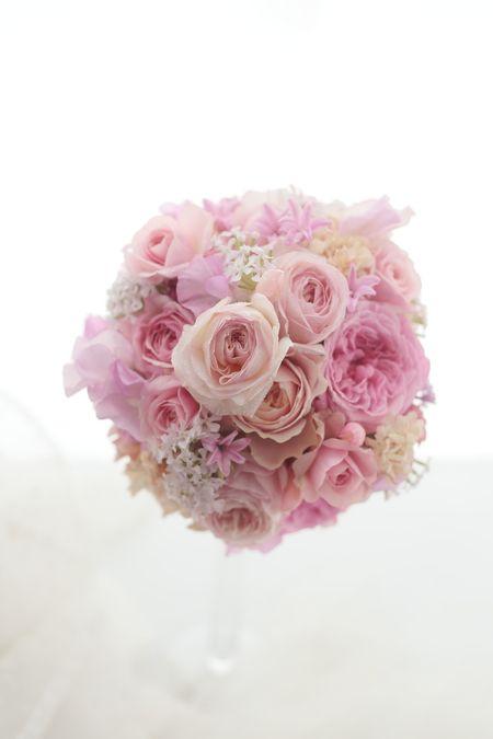 ラウンドブーケ ピンクのバラ キーラ