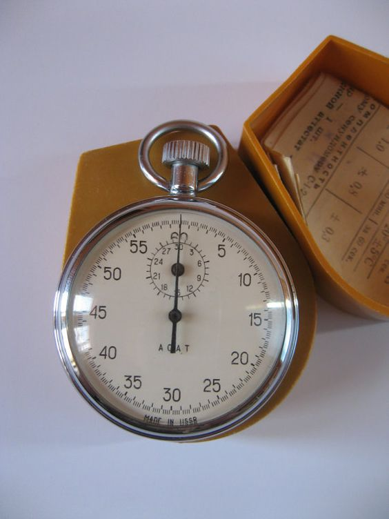 AGAT vintage mechanical stopwatch Made in 1973 by VintageAndWatches on Etsy, $37.00