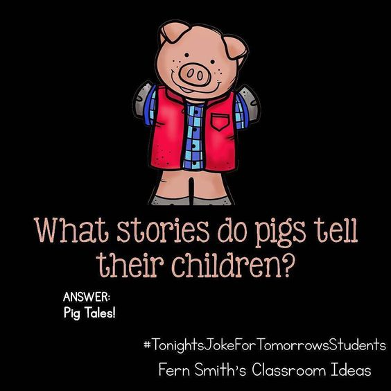 What stories do pigs tell their children?