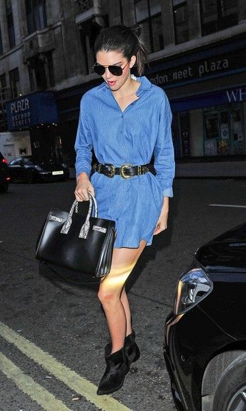 Look Kendall Jenner: Vestido + Cinto: