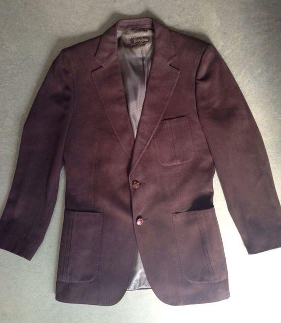 Vintage Neiman Marcus Lanvin Brown Suede Men's Sport Coat/Blazer ...