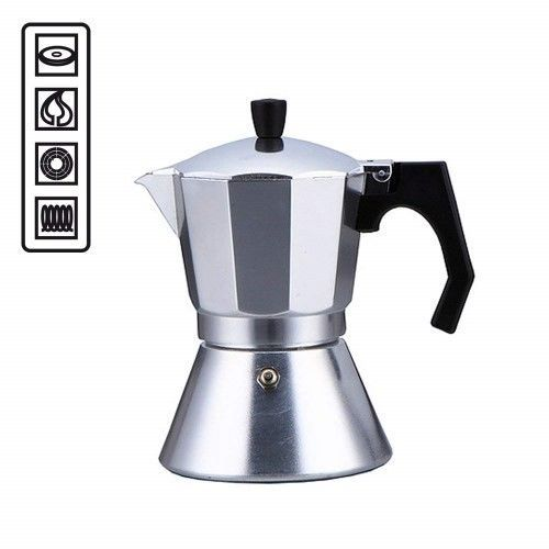 CAFFETTIERA DA 6 MOKA CAFFE 6 DOSI CAFFETTERIA PIANI A INDUZIONE E TRADIZIONALI