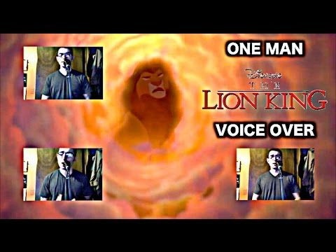 """One Man Lion King"" Voice Over - Disney - YouTube"