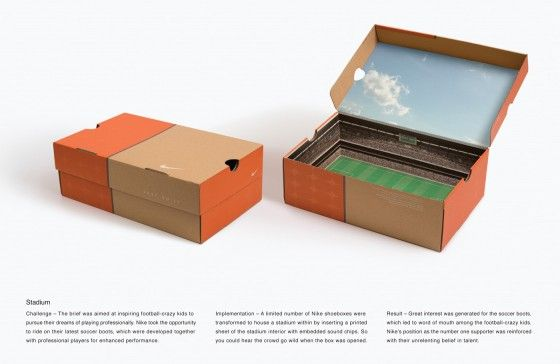 Nike Packaging, how about that orange and cardboard color burned into the mind.