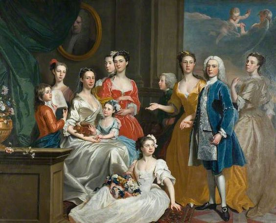 18C American Women: Squirrels in paintings of 18C American women + a couple of boys...