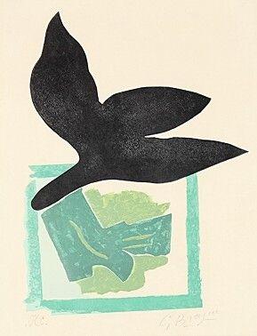 Gravure sur bois - Georges Braque -: