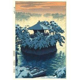 笠松紫浪「雪の松島」Shiro Kasamatsu
