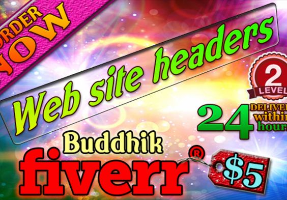 buddhik: design amazing professional website header within 24 hours for $5, on fiverr.com
